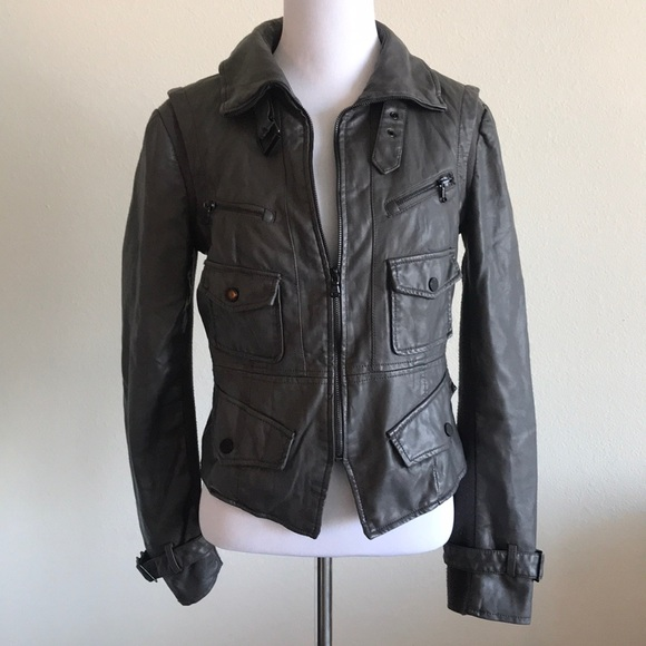 Kenneth Cole Reaction Jackets & Blazers - Grey Kenneth Cole  Motorcycle jacket Size XS